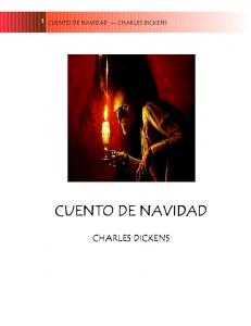 CUENTO DE NAVIDAD CHARLES DICKENS CUENTO DE NAVIDAD CHARL DICKENS RLES