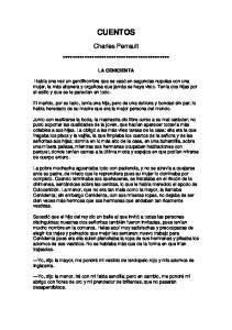 CUENTOS. Charles Perrault ******************************************** LA CENICIENTA