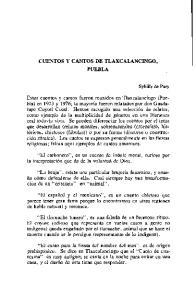 CUENTOS Y CANTOS DE TLAXCALANCINGO, PUEBLA