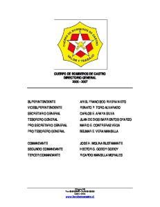 CUERPO DE BOMBEROS DE CASTRO DIRECTORIO GENERAL