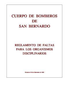 CUERPO DE BOMBEROS DE SAN BERNARDO