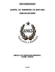 CUERPO DE BOMBEROS DE SANTIAGO COMUNICACIONES