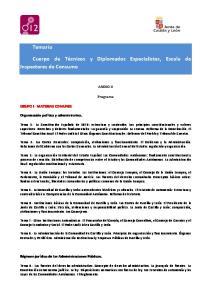 Cuerpo de Técnicos y Diplomados Especialistas, Escala de Inspectores de Consumo