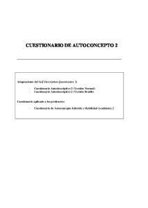 CUESTIONARIO DE AUTOCONCEPTO 2