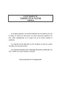 CUESTIONARIO DE DIAGNOSTICO DE PUESTOS FORMA A
