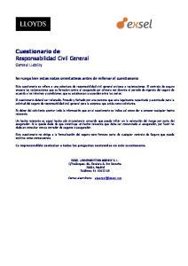 Cuestionario de Responsabilidad Civil General