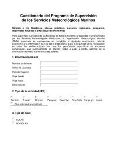 Cuestionario del Programa de Supervisión de los Servicios Meteorológicos Marinos