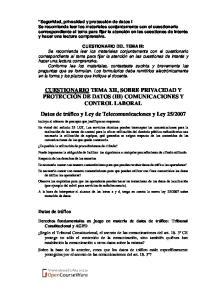 CUESTIONARIO DEL TEMA III: