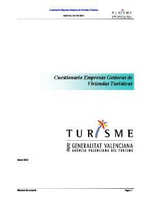 Cuestionario Empresas Gestoras de Viviendas Turísticas