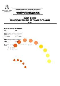 CUESTIONARIO ENCUESTA DE CALIDAD DE VIDA EN EL TRABAJO 2010