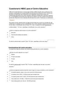 Cuestionario HBSC para el Centro Educativo