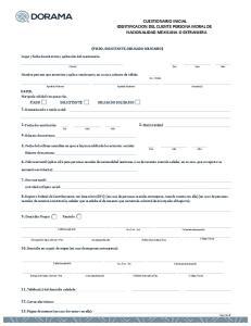 CUESTIONARIO INICIAL IDENTIFICACION DEL CLIENTE PERSONA MORAL DE NACIONALIDAD MEXICANA O EXTRANJERA