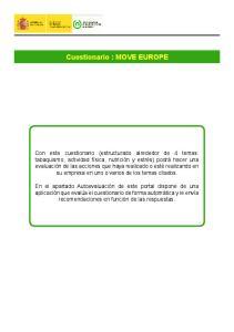 Cuestionario : MOVE EUROPE