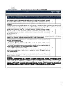 Cuestionario Norma de Carácter General N 341 SVS
