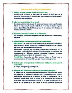 CUESTIONARIO: TEORIA DEL CONSUMIDOR