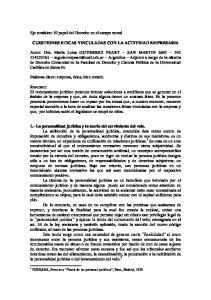CUESTIONES ETICAS VINCULADAS CON LA ACTIVIDAD EMPRESARIA