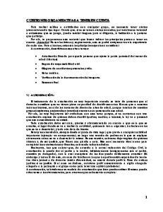 CUESTIONES ORGANIZATIVAS A TENER EN CUENTA
