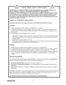 CUIDADO CUIDADO CUIDADO CUIDADO - CUIDADO. Importantes observaciones con respecto al uso de los convertidores 12V(24V)-220V de la serie PI