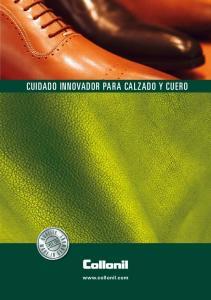 CUIDADO INNOVADOR PARA CALZADO Y CUERO