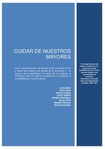 CUIDAR DE NUESTROS MAYORES