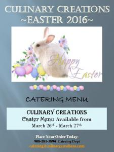 Culinary Creations ~EASTER 2016~