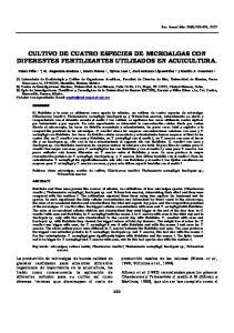 CULTIVO DE CUATRO ESPECIES DE MICROALGAS CON DIFERENTES FERTILIZANTES UTILIZADOS EN ACUICULTURA