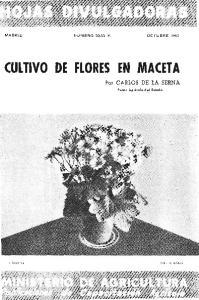 CULTIVO DE FLORES EN MACETA