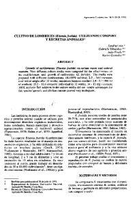 CULTIVO DE LOMBRICES (Eiseniafoetida) UTILIZANDO COMPOST Y EXCRETAS ANIMALESI