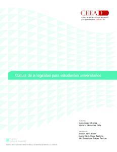 Cultura de la legalidad para estudiantes universitarios