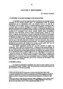 CULTURA E IDENTIDADES