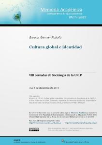 Cultura global e identidad