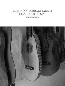 CULTURA Y TURISMO PARA EL DESARROLLO LOCAL