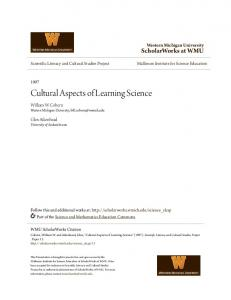 Cultural Aspects of Learning Science