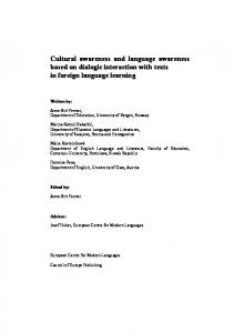 Cultural awareness and language awareness based on dialogic interaction with texts in foreign language learning