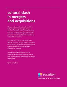 cultural clash in mergers and acquisitions