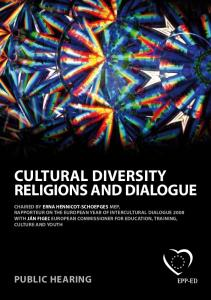 CULTURAL DIVERSITY RELIGIONS AND DIALOGUE