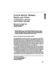 Cultural Identity: Between Reality and Fiction