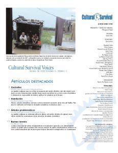 Cultural Survival Voices