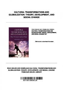 CULTURAL TRANSFORMATIONS AND GLOBALIZATION: THEORY, DEVELOPMENT, AND SOCIAL CHANGE