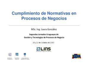 Cumplimiento de Normativas en Procesos de Negocios