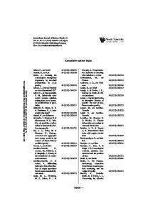 Cumulative author index