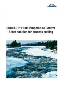 CUMULUS Fluid Temperature Control A fast solution for process cooling