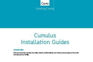 Cumulus Installation Guides