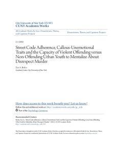 CUNY Academic Works. City University of New York (CUNY) Zoe A. Berko Graduate Center, City University of New York