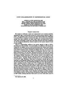CUNY COLLABORATION IN MATHEMATICAL LOGIC