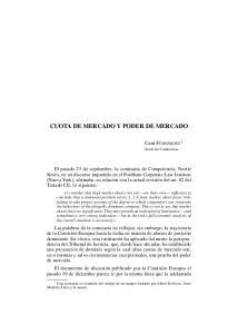 CUOTA DE MERCADO Y PODER DE MERCADO