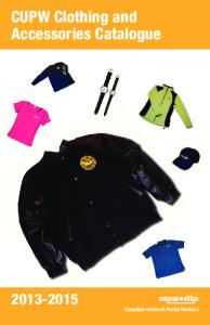 CUPW Clothing and Accessories Catalogue