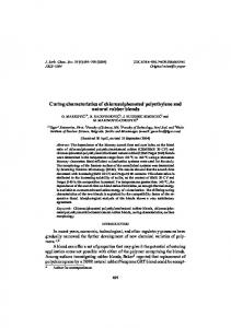 Curing characteristics of chlorosulphonated polyethylene and natural rubber blends