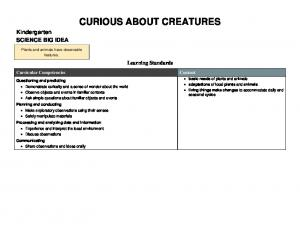 CURIOUS ABOUT CREATURES