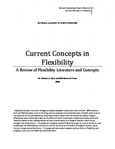 Current Concepts in Flexibility